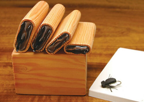 """Fly Tying DELUXE UNIVERSAL BEETLE BODY /""""4 CUTTER SET/""""  with Wood Caddy Box"""