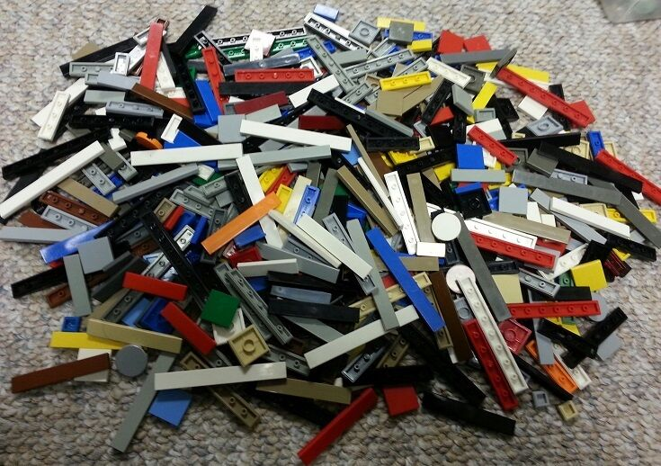 LEGO Lot 500+ Smooth Flat FINISHING TILES BulkBuilding Pieces Assorted Farbes