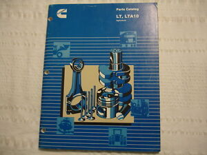 cummins service shop lt lta10 parts list catalog manual ebay rh ebay com LTA10 Cummins Parts Catalog Cummins LTA10 G1