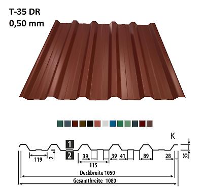 GemäßIgt Trapezblech Wellblech Trapezplatten Dachplatten T-35 0,5 Preis-m2 1 Wahl ! Produkte Werden Ohne EinschräNkungen Verkauft