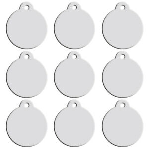 100pcs-Silver-Personalised-Dog-Tags-Disc-Disk-Pet-Cat-Puppy-Name-ID-Collar-Tags