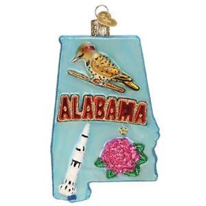 Old-World-Christmas-STATE-OF-ALABAMA-36272-N-Glass-Ornament-w-OWC-Box