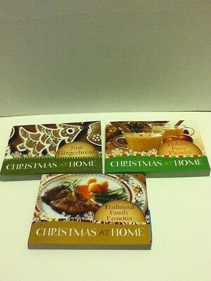 Christmas At Home Cookbooks Set 3 Holiday Traditions Meals Parties Desserts Book