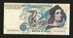 NC-REPUBBLICA-ITALIANA-500000-lire-RAFFAELLO-1997-Firme-Fazio-Amici