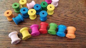 20 × Mini Wooden spools cotton reels
