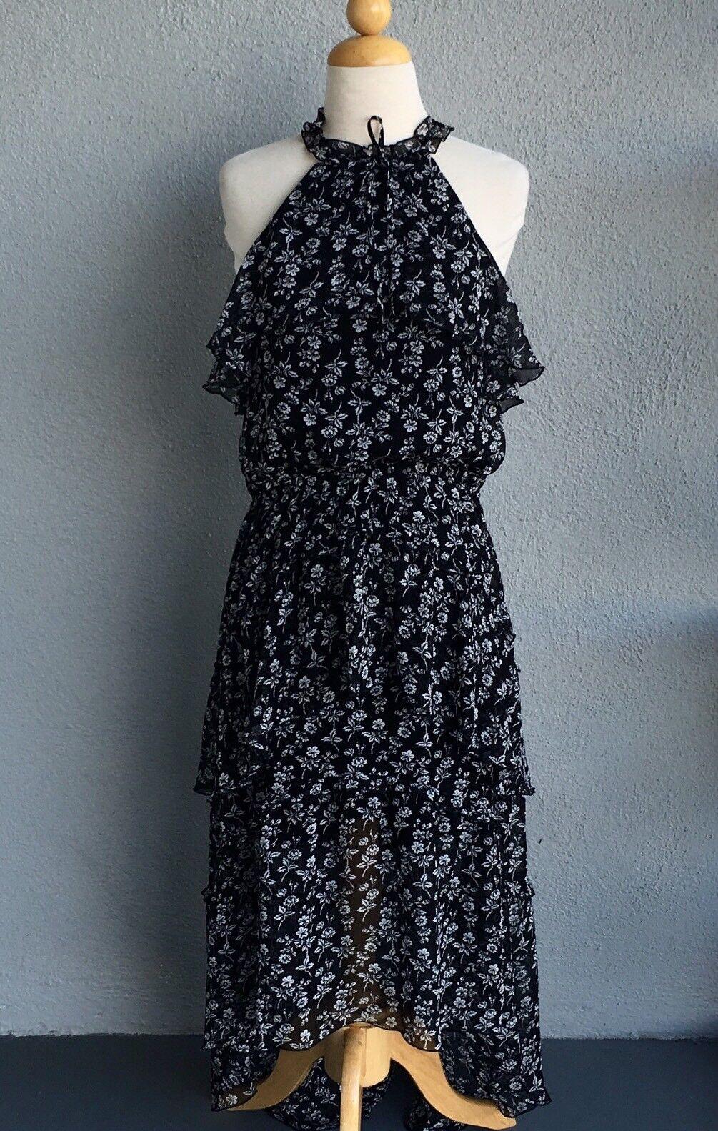 EXPRESS Floral Ruffle Dress Size L. NWT. Retail  79