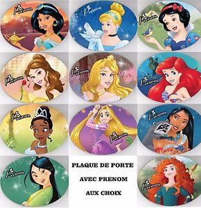 Plaque de porte incassable princesse disney personnalis avec pr nom au choix ebay - Toutes les princesse disney ...