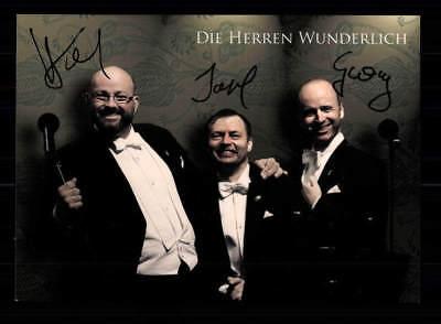 Musik Sammeln & Seltenes Die Herren Wunderlich Autogrammkarte Original Signiert ## Bc 122810 Ein Unverzichtbares SouveräNes Heilmittel FüR Zuhause