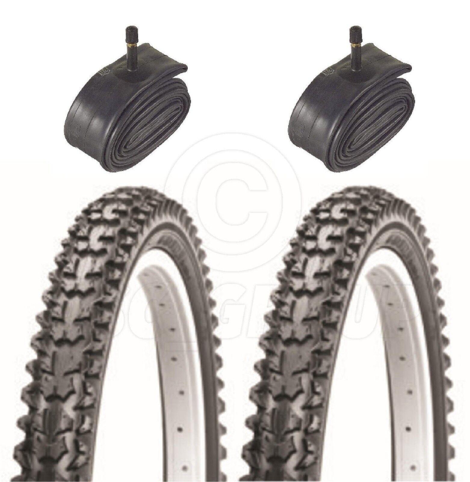 2 Bicicleta Neumáticos Moto - de Montaña - 24 X 1.95 - con Tubos Schrader