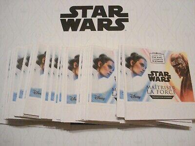 40 stickers STAR WARS 2019 LECLERC soit 10 pochettes
