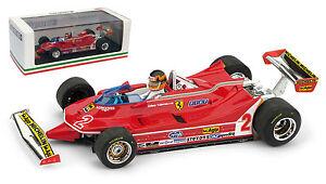 Brumm R575-ch Ferrari 312 T5 # 2 Gp Brésilien 1980 - Gilles Villeneuve Echelle 1/43 8020677024149