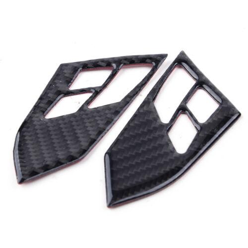 Carbon Fiber Steering Wheel Button Frame Trim Fit for BMW 5 Series E60 2005-2010