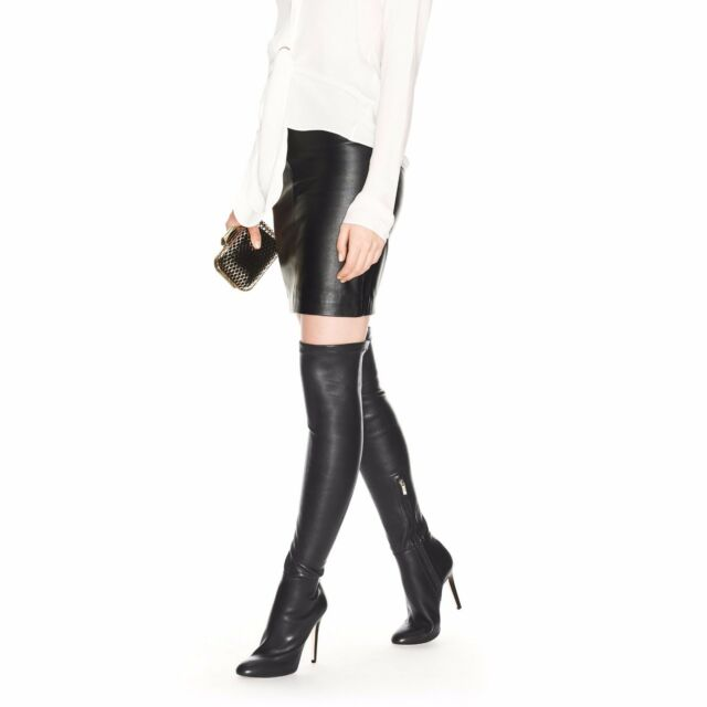 4df4b78dfa VIC MATE MADE IN ITALY LEATHER STRETCH FITTED OVER THE KNEE BOOTS EU ...