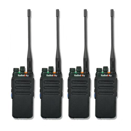 4x Radioddity GD-77S VHF UHF 1024CH Dual Time Slot DMR Two-way Radio Hotel Event