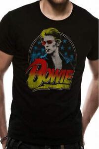 David-Bowie-Official-Mens-Womens-T-Shirt-New-Smoking-Ziggy-Starman-Black-Top-Tee