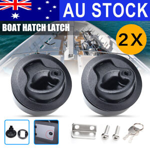 """2/"""" Stainless Plastic /& Chrome Slam Latch Hatch Round Pull Latch Door RV Boat EAN"""