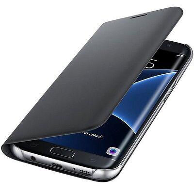 Original Samsung Flip Wallet Case Cover EF-WG935 für Galaxy S7 Edge Schwarz