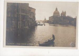 Venezia-Canal-Grande-e-Chiesa-Italy-Vintage-RP-Postcard-252b