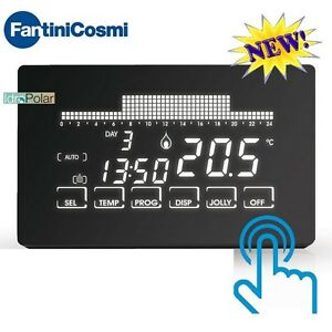 Cronotermostato settimanale ultrapiatto touch screen for Cronotermostato settimanale fantini cosmi c31