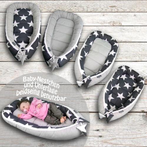 BAMBINIWELT Babynest Kuschelnest Kokon Baumwolle Babybett 2-teilig Nestchen Bett