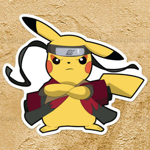 pokemon pikachu naruto sage mode ninja car window die cut wall decal