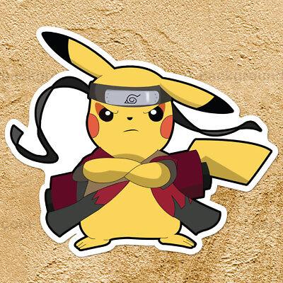 Pokemon Pikachu Naruto Sage Mode Ninja Car Window Die Cut Wall