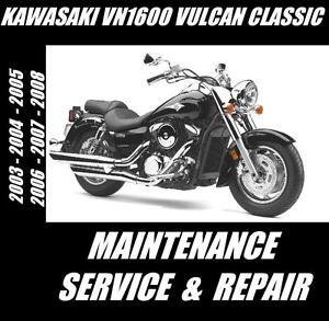 Kawasaki vn1600 vulcan classic 1600 maintenance service repair image is loading kawasaki vn1600 vulcan classic 1600 maintenance service repair fandeluxe Choice Image