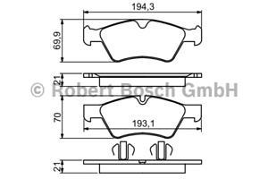 Bremsbelagsatz Scheibenbremse Bosch 0 986 494 165