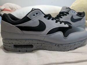 Details about Nike Air Max 1 Premium Mens shoes Sz 9 Platinum Black Grey 875844 003 vapormax