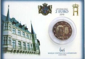 2 Euro CC Coincard BU Luxembourg 2010 - Armoiries du Grand Duc