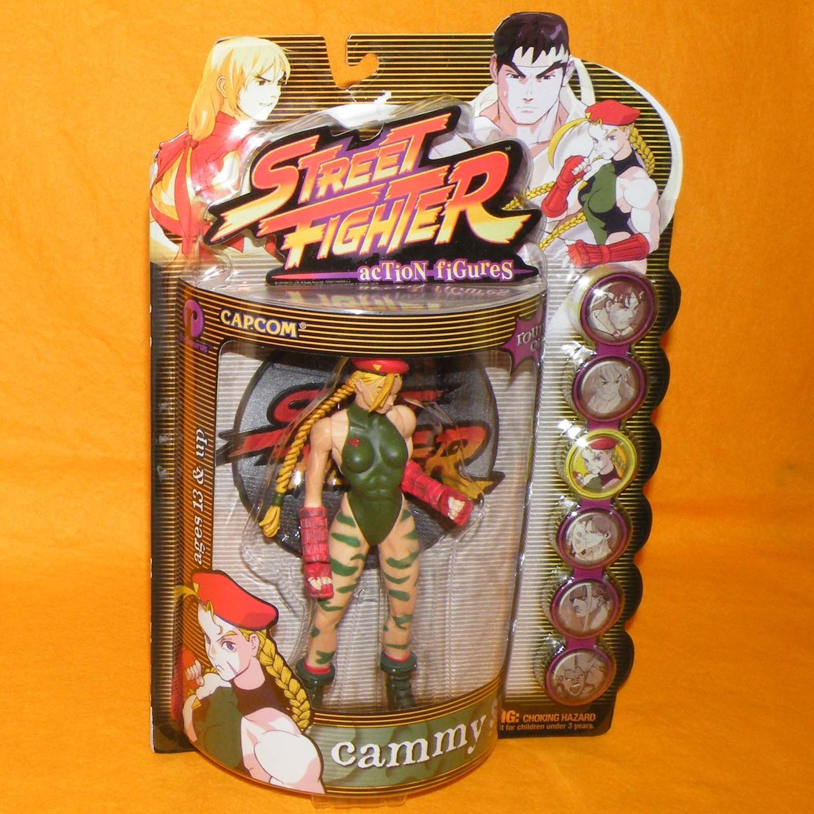 1999 1999 1999 RESAURUS CAPCOM STREET FIGHTER ROUND ONE CAMMY FIGURE MOC CARDED PLAYER 1 6cdf09