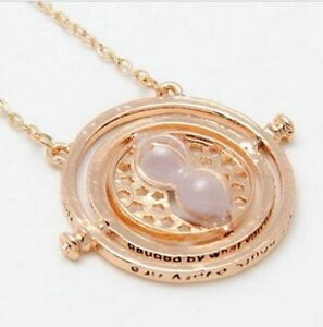 2015-Harry-Potter-Hermione-Granger-Rotating-Time-Turner-Necklace-Gold-Hourglass