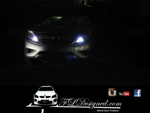 Bright White 2012-2016 by FLDesigned Headlights Mazda BT 50 l.e.d Parker Bulbs