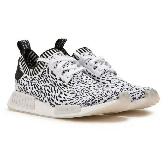finest selection 5c028 42d9f Adidas Originals NMD R1 PK Primeknit Sashiko Black White Zebra BZ0219 Mens  Shoes