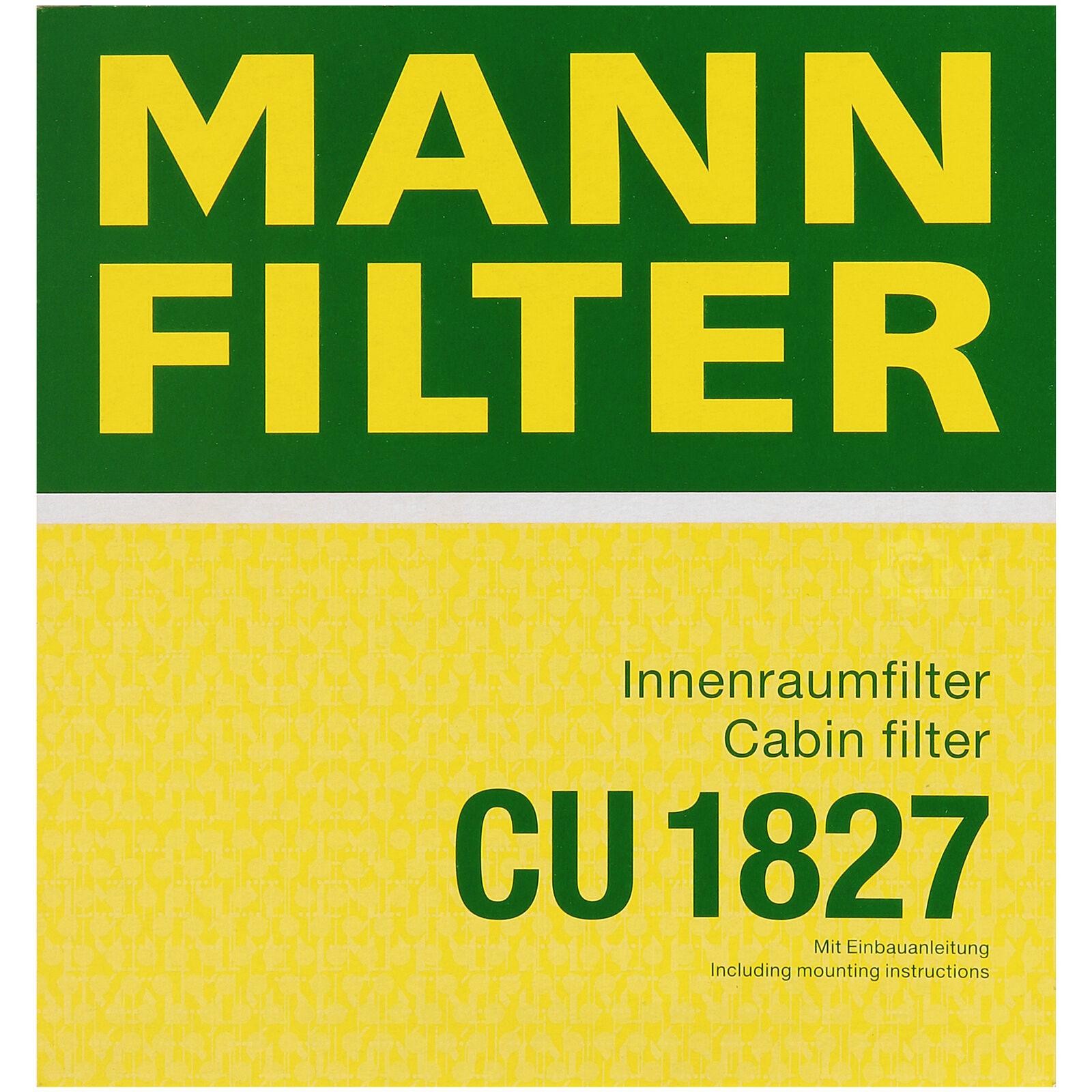 Innenraumfilter Pollenfilter MANN-FILTER CU 1827