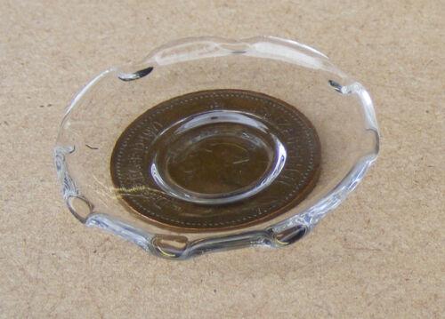 Escala 1:12 Plato de Vidrio Transparente pastel de fruta Casa de Muñecas Cocina Frutas Accesorio G5b