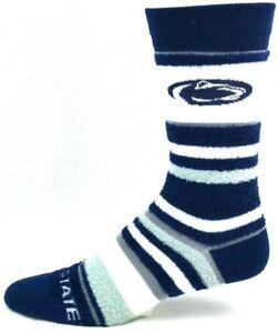 Penn-State-Nittany-Lions-For-Bare-Feet-Women-039-s-Soft-Stripe-Crew-Length-Socks