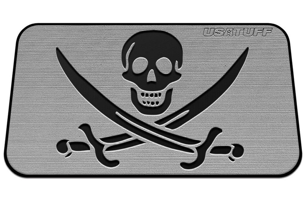 USATuff Cooler Pad for YETI 110qt - SeaDek Marine EVA Mat - G B - Pirate Skull