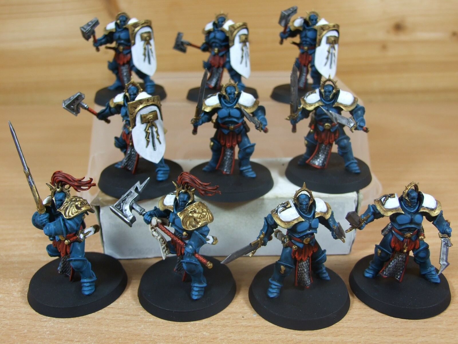 10 PLASTIC WARHAMMER STORMCAST ETERNALS LIBERATORS WELL PAINTED (4195)