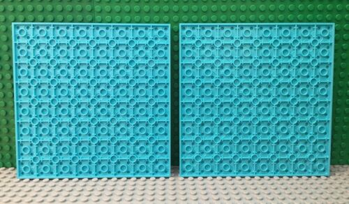41313 41003 Lego 2x Lot Medium Azure Blue 16x16 Stud Plate 41008 41122