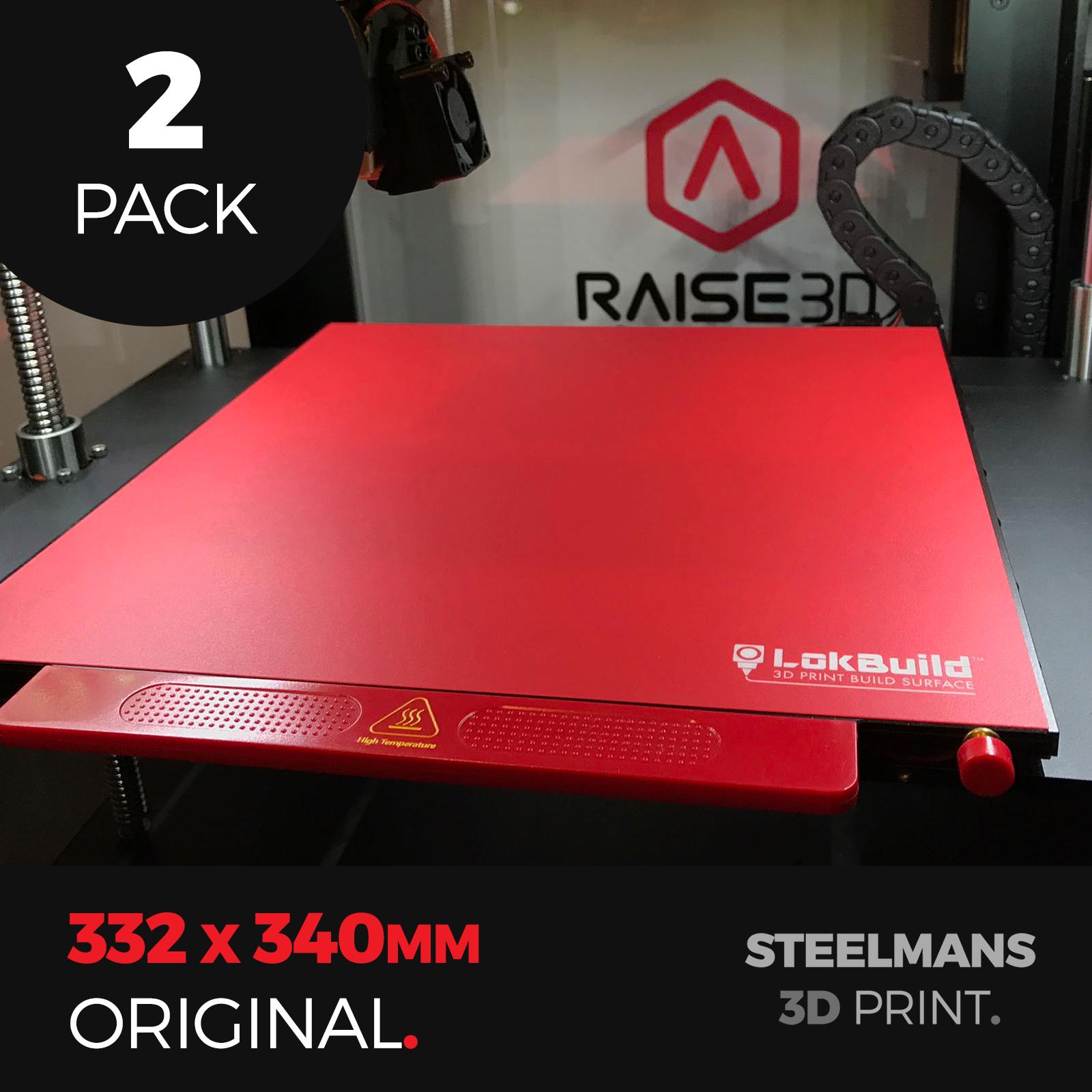 PACK OF 2 x LokBuild : 3D Print Build Surface (Raise3D Pro2, Pro2 Plus, N2, N2+)