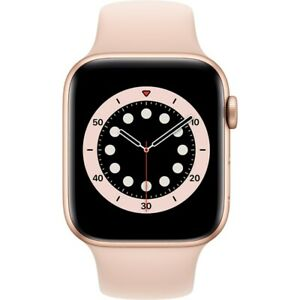 Apple Watch Series 6 (44mm) GPS mit Sportarmband gold/sandrosa Alu Case