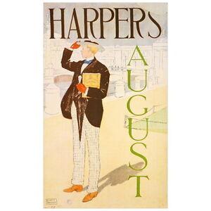 Harper's August 1893 Magazine Cover Art Deco FRIDGE MAGNET, Edward Penfield