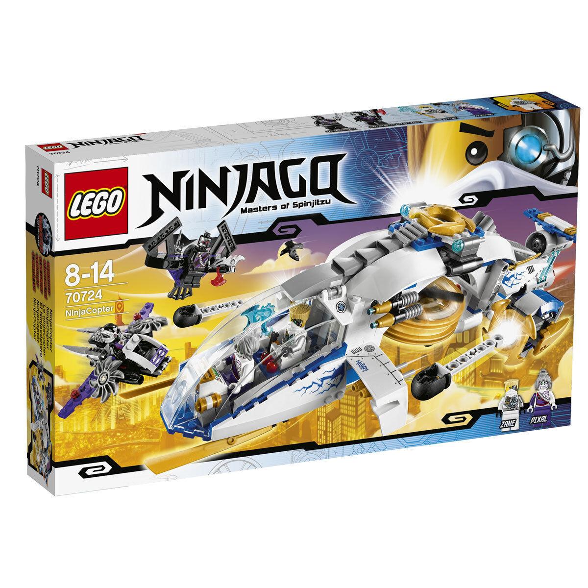 LEGO Ninjago NinjaCopter  70724 incl. Battle-scarROT Zane & Pixal - NLA & RARE