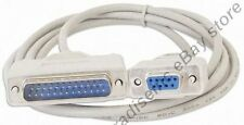 Lot25 6ft DB9 FEMALE~DB25 pin MALE Serial Null Modem Data Cable,Nul wired Cord