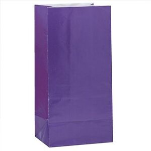 12-x-PURPLE-PAPER-PARTY-BAGS-Birthday-Gift-Sweet-Treat-Loot-Favour-Goody-Bag