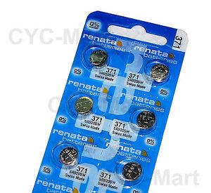 6-pcs-x-Renata-371-SR920SW-Silver-Oxide-Watch-Battery-Swiss-Made