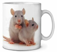 Silver Blue Rats Coffee/Tea Mug Christmas Stocking Filler Gift Idea, RAT-1MG