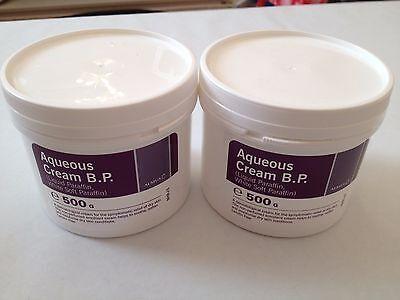 AQUEOUS CREAM BP 500g sealed new 2 TUBS