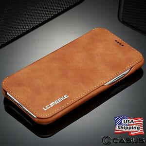 Pour-Galaxy-Note-9-8-S10-S9-Plus-De-luxe-Portefeuille-en-cuir-stand-mince-Slim-Case-Cover